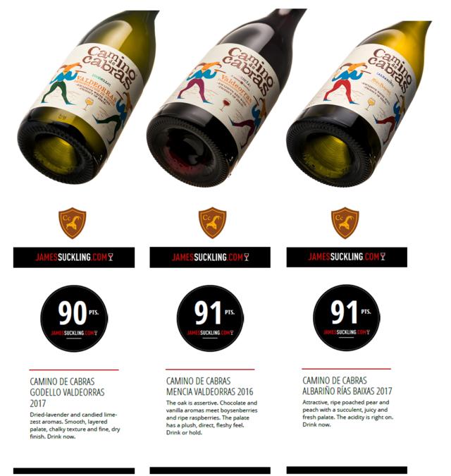"""The wine guru James Suckling awards the """"Camino de Cabras"""" wine prize."""